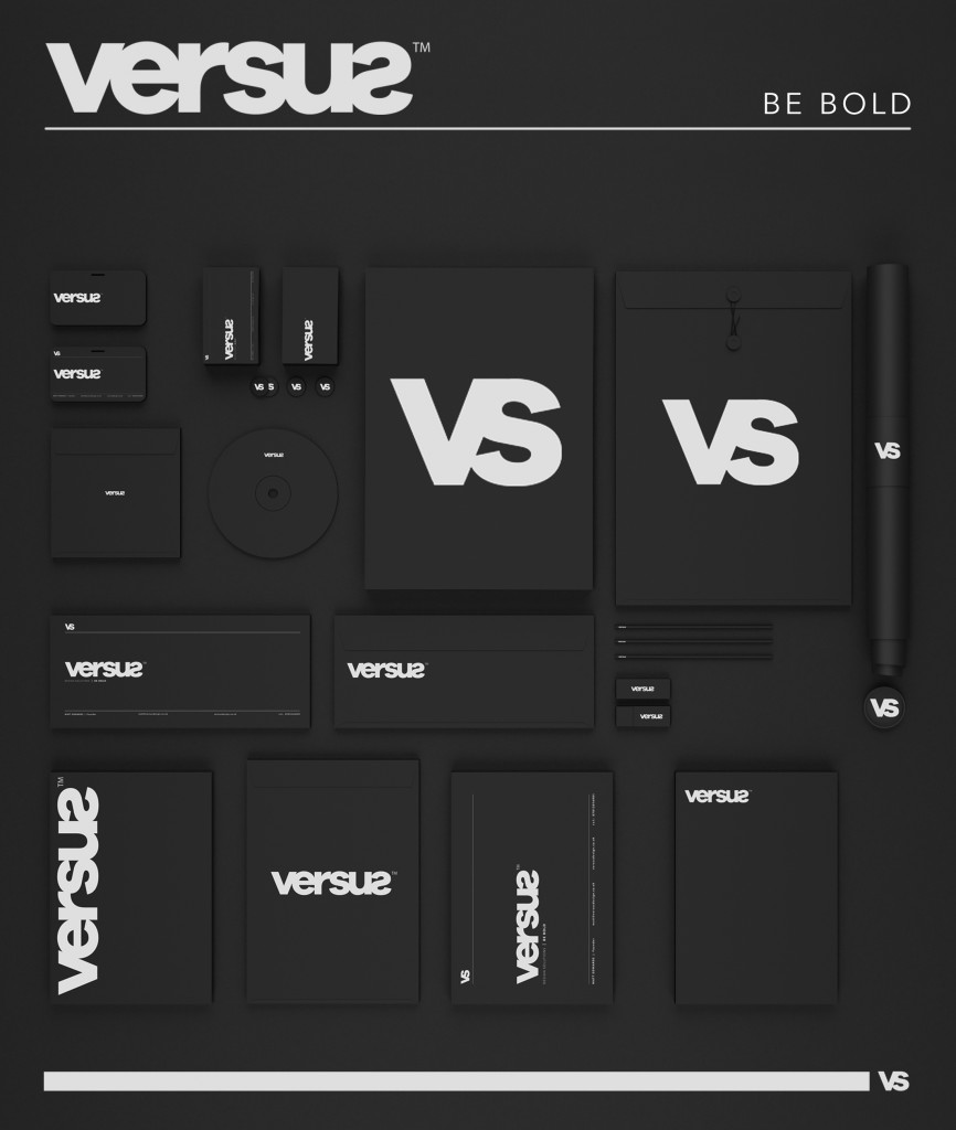 Versus Design business branding and identity poster